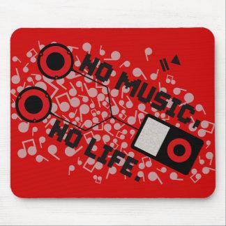 NO MUSIC, NO LIFE. MOUSE PAD