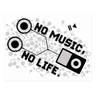 NO MUSIC, NO LIFE. POSTCARD