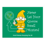 No Mustard For Gnomes Post Cards