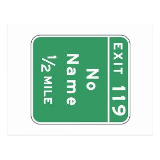 No Name, Road Marker, Colorado, USA Postcard