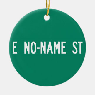 No-Name Street, Street Sign, Arizona, US Double-Sided Ceramic Round Christmas Ornament
