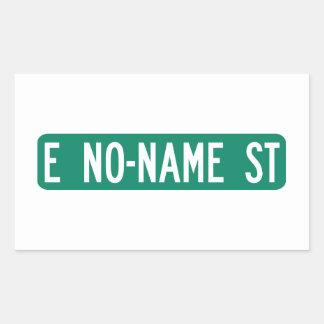 No-Name Street, Street Sign, Arizona, US Rectangular Sticker