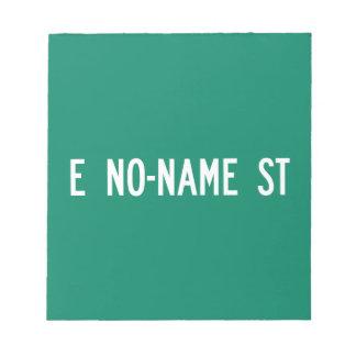 No-Name Street, Street Sign, Arizona, US Scratch Pads