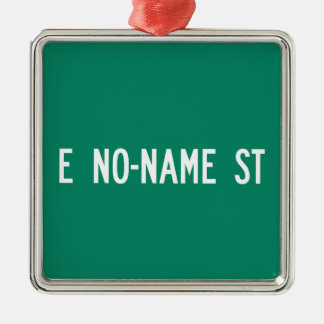 No-Name Street, Street Sign, Arizona, US Square Metal Christmas Ornament