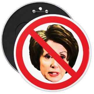 No Nancy Pelosi Pinback Button