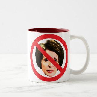 No Nancy Pelosi Two-Tone Coffee Mug
