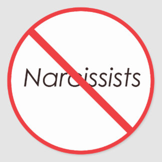 No Narcissists! Classic Round Sticker