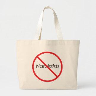 No Narcissists! Large Tote Bag
