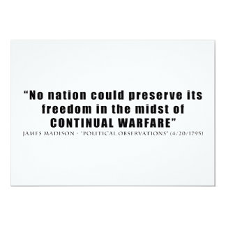 No nation can preserve freedom continual warfare card
