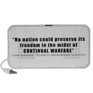 No nation can preserve freedom continual warfare mini speaker