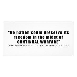 No nation can preserve freedom continual warfare photo cards