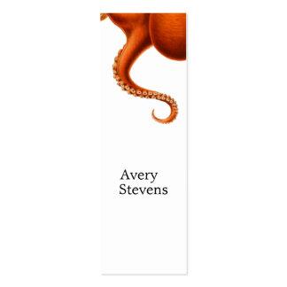 No. náutico 2 de la biología marina roja del pulpo tarjetas de visita mini