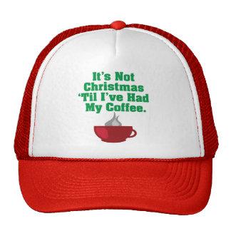 No navidad hasta el café gorro de camionero