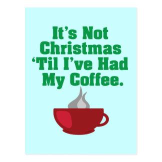 No navidad hasta el café tarjeta postal