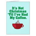No navidad hasta el café tarjetón