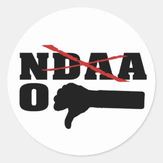 No NDAA (With Red X) Classic Round Sticker