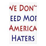 No necesitamos a más enemigos de América Papeleria Personalizada