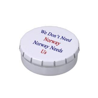 No necesitamos Noruega Noruega nos necesitamos Jarrones De Dulces