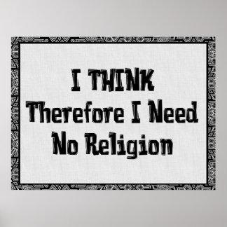 No necesite la religión impresiones