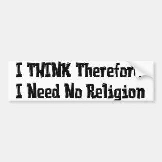 No necesite la religión pegatina para auto