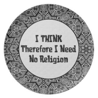 No necesite la religión plato para fiesta