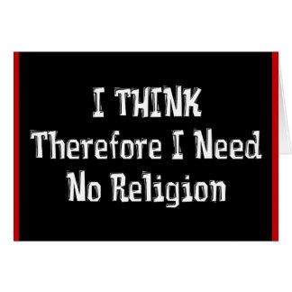 No necesite la religión tarjetón