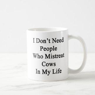 No necesito a la gente que maltrata vacas en mi taza