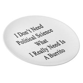 No necesito ciencia política qué necesito platos para fiestas