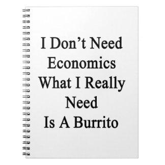 No necesito la economía qué necesito realmente soy cuadernos