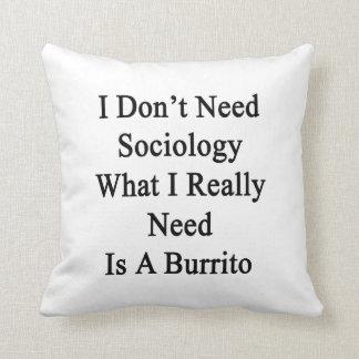 No necesito la sociología qué necesito realmente almohadas