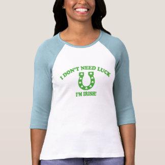 No necesito suerte - soy irlandés camisetas