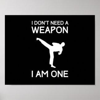 No necesito un arma poster