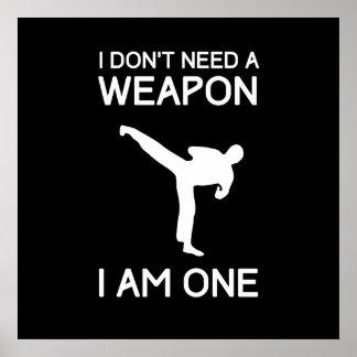 No necesito un arma póster