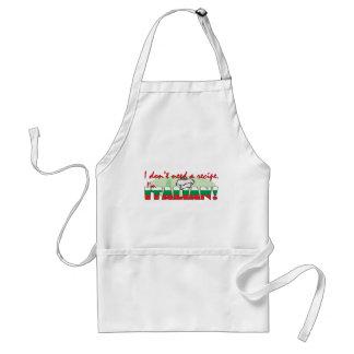 No necesito una receta que soy italiano delantal