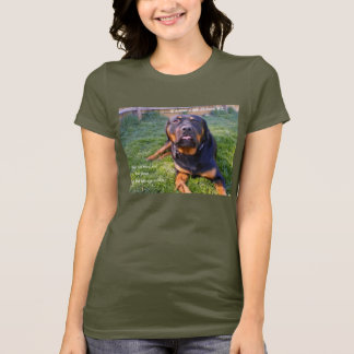 No Need for Brute Force women's petite tee