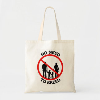 No Need to Breed Tote Bags