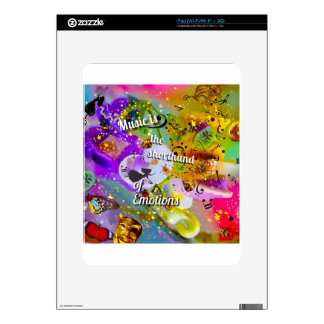 No need to talk between musical notes decals for the iPad