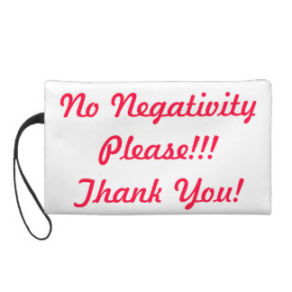 No Negativity Bagettes Bag