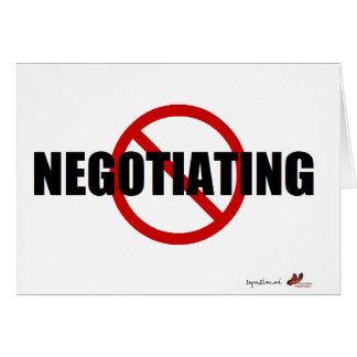 No Negotiating Card