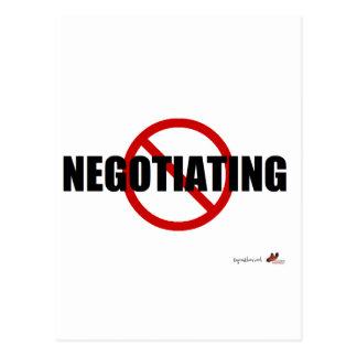 No Negotiating Postcard