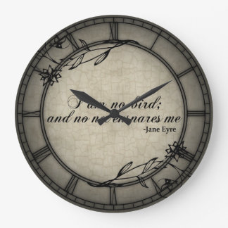 No Net Ensares Me Large Clock
