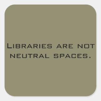 No Neutral Libraries sticker