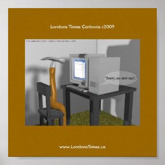 No New Nail Funny PC Poster From Rick London