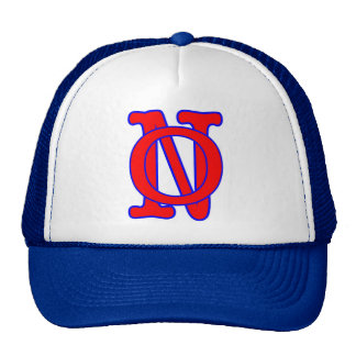 NO-New Orleans Letters Trucker Hats