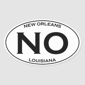 NO - New Orleans Oval Logo Oval Sticker