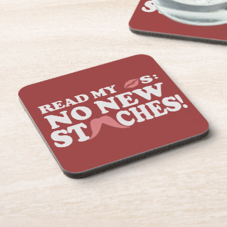 No New Staches custom coasters