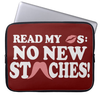 No New Staches custom laptop sleeve