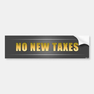 No New Taxes Car Bumper Sticker
