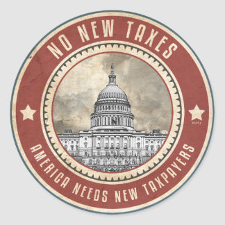 No New Taxes Classic Round Sticker