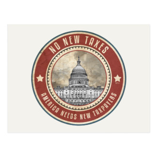 No New Taxes Postcard